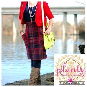 NWT Plenty by Tracy Reese Plaid Pencil Skirt